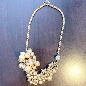Gold Cluster Ornament Necklace